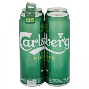 Carlsberg Lager Beer, Pint Cans 4 x 568ml