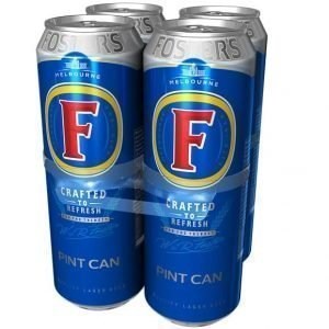 Foster's Lager Beer Pint Cans 4 x 568ml