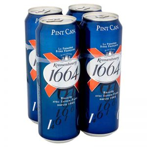 Kronenbourg 1664 Lager Beer Cans 4 x 568ml Pint