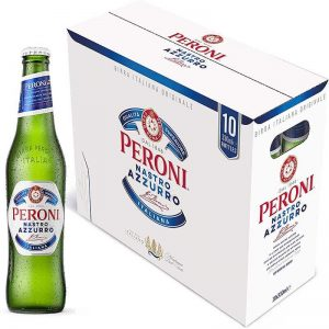 Peroni Nastro Azzurro Premium Lager Beer, 10 x 330ml bottles