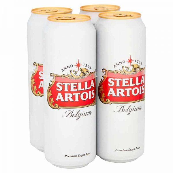 Stella Artois Premium Lager Beer Cans 4x568ml