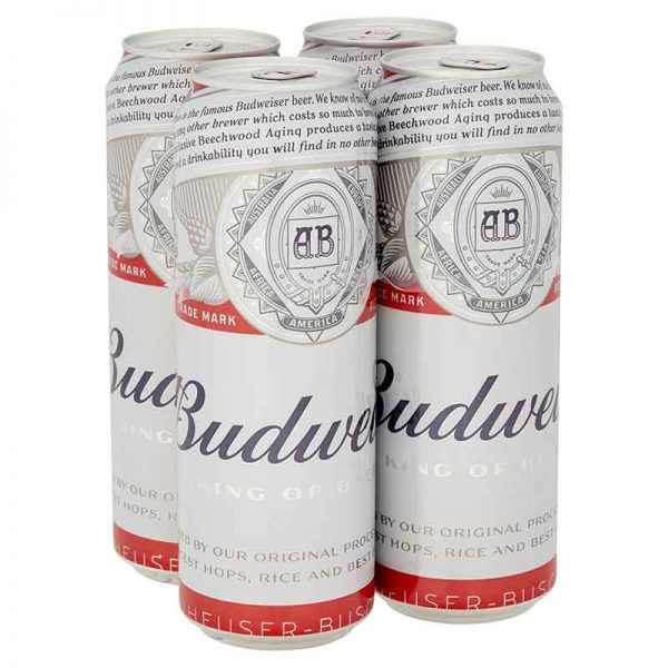 Budweiser Lager Beer, Pint Cans 4x568ml