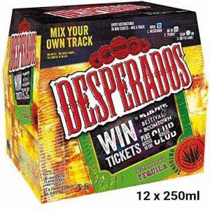 Desperados Tequila Lager Beer Bottles 12 x 250ml