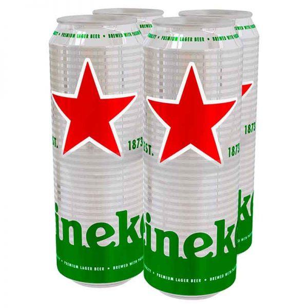 Heineken Premium Lager Beer Cans 4x568ml Pint