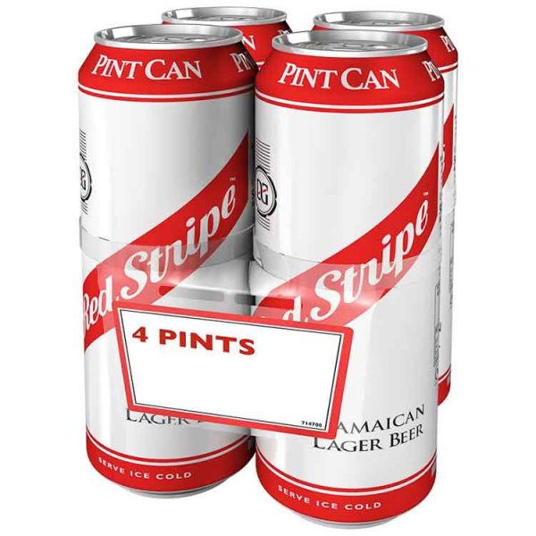 Red Stripe Lager Pint 4-Pack Cans (4 x 568ml)