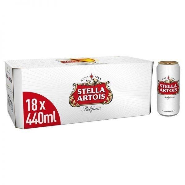 Stella Artois Premium Lager Beer 18 x 440ml bottles