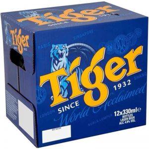 Tiger Asian Lager Beer 12 x 330ml Bottles