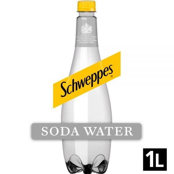 Schweppes Original Soda Water 1L Bottle