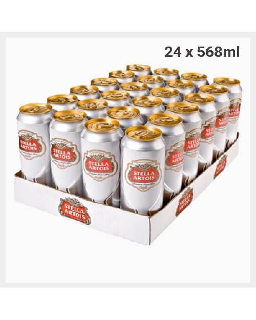 Stella Artois Premium Lager Pint Cans 24x 568ml