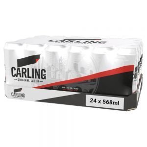 Carling Original Lager Beer, Pint Cans 24 x 568ml