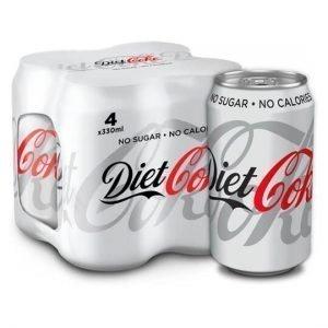 diet coke 4 x 330ml cans