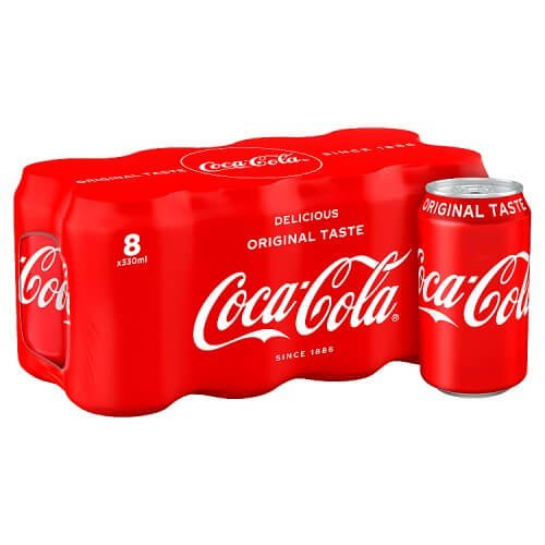 Coca Cola Original Coke 8 x 330ml Cans