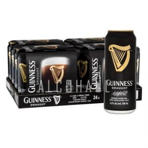 Guinness Draught Stout Beer 24 x 500ml Can