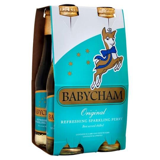 Babycham sparkling perry, 4 x 200ml.
