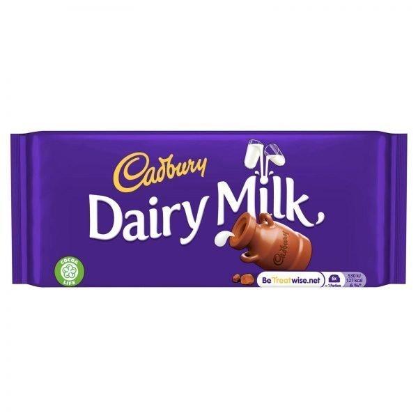 Cadbury Dairymilk Chocolate Bar 95g