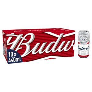 Budweiser 10 x 400ml cans