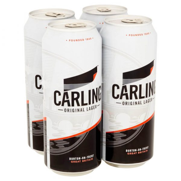 Carling 4 x 500ml cans