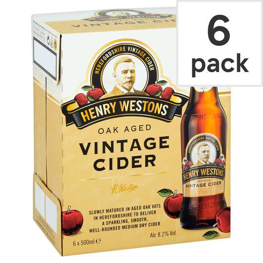 Henry Westons Vintage 8.2% 6 x 500ml Bottles