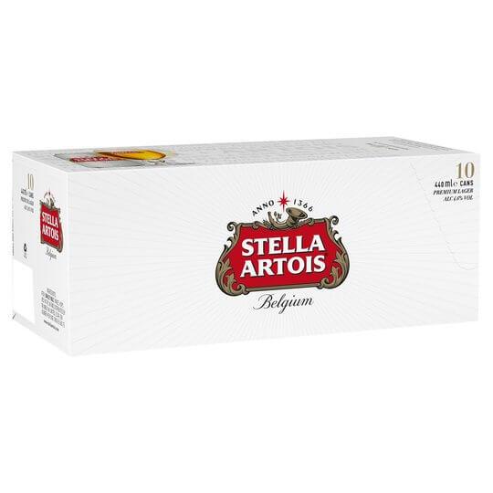 Stella 10 x 440ml cans