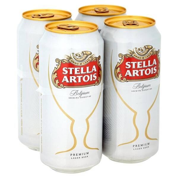 Stella Artois 4 x 500ml cans