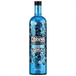 Corkys Blueberry Glitter Schnapps 70cl
